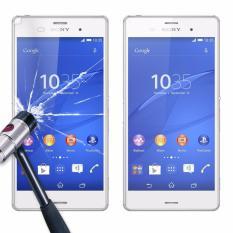 FOR Sony Xperia Z3 Depan dan Belakang Anti Gores Kaca Film Pelindung Layar