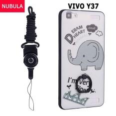 Untuk VIVO Y37 Case Sarung Baru Panas Jual Modis Ultratipis 3D Stereo Pereda Warna-warni Lukisan Lembut Kembali Sarung /Anti Jatuh Ponsel Sarung/Tahan Guncangan Ponsel Case dengan Logam Cincin dan Ponsel Tali (Warna: c7)-Internasional
