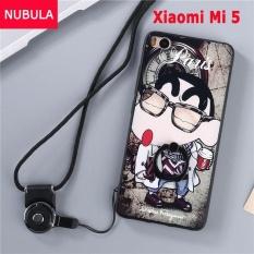 untuk Xiao Mi Mi 5 Case Penutup Baru Hot Jual Fashion Ultra Tipis 3D Stereo Relief Colorful Painting Soft Kembali Covers/Anti Jatuh Ponsel Cover/Tahan Guncangan Ponsel Case dengan Logam Cincin dan Ponsel Tali (KELE XIAOXIN) -Intl