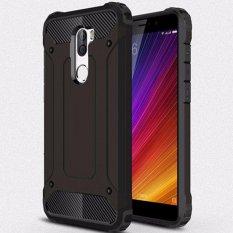 Untuk Xiaomi MI 5 S Plus [Baju Besi Baja] 2in1 Serat Karbon Premium Soft TPU + PC Hibrida Keras Sel Cover cover Baju Besi Tahan Benturan-Intl