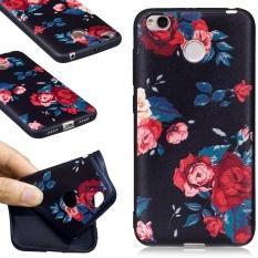 untuk Xiaomi Redmi 4X Embossed Pola Matte TPU Ponsel Cover untuk Xiaomi Redmi 4X-Mawar