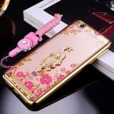 Harga For Xiaomi Redmi 5A 5 Inch Case Luxury 3D Soft Plastic Case Coque For Redmi 5A Silicon Glitter Rhinestone Cover Stand Cover Shell Multicolor 1 Intl New