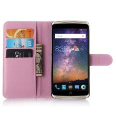 untuk ZTE AXON Lux/AXON Elite Flip Kulit dengan Deluxe Kartu Kredit Flip Cover Case Ponsel Case (Pink) -Intl