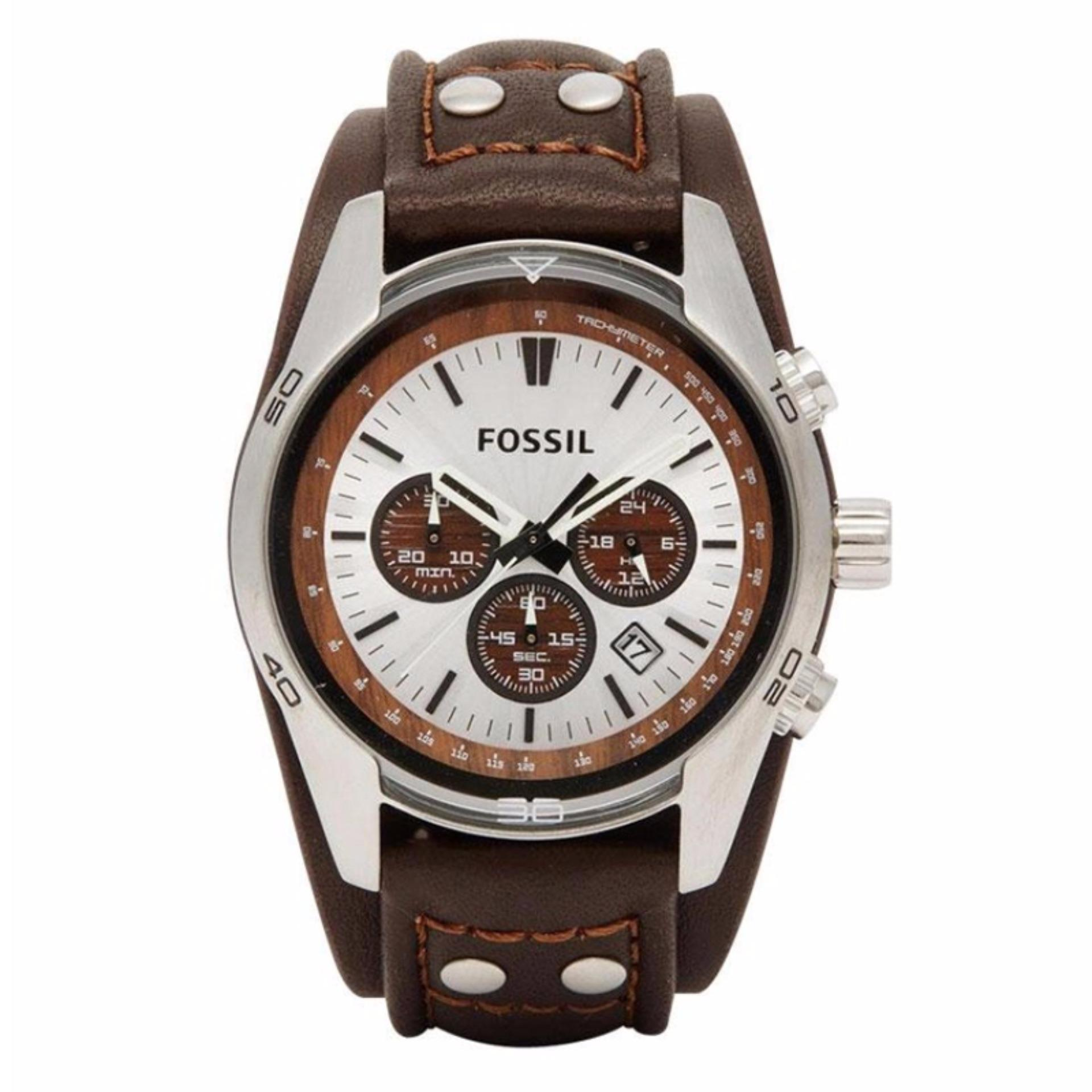 Review Fossil Ch2565 Jam Tangan Pria Brown Strap Leather