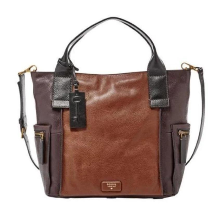 Fossil Emerson Large Satchel Multi Brown ZB6886249