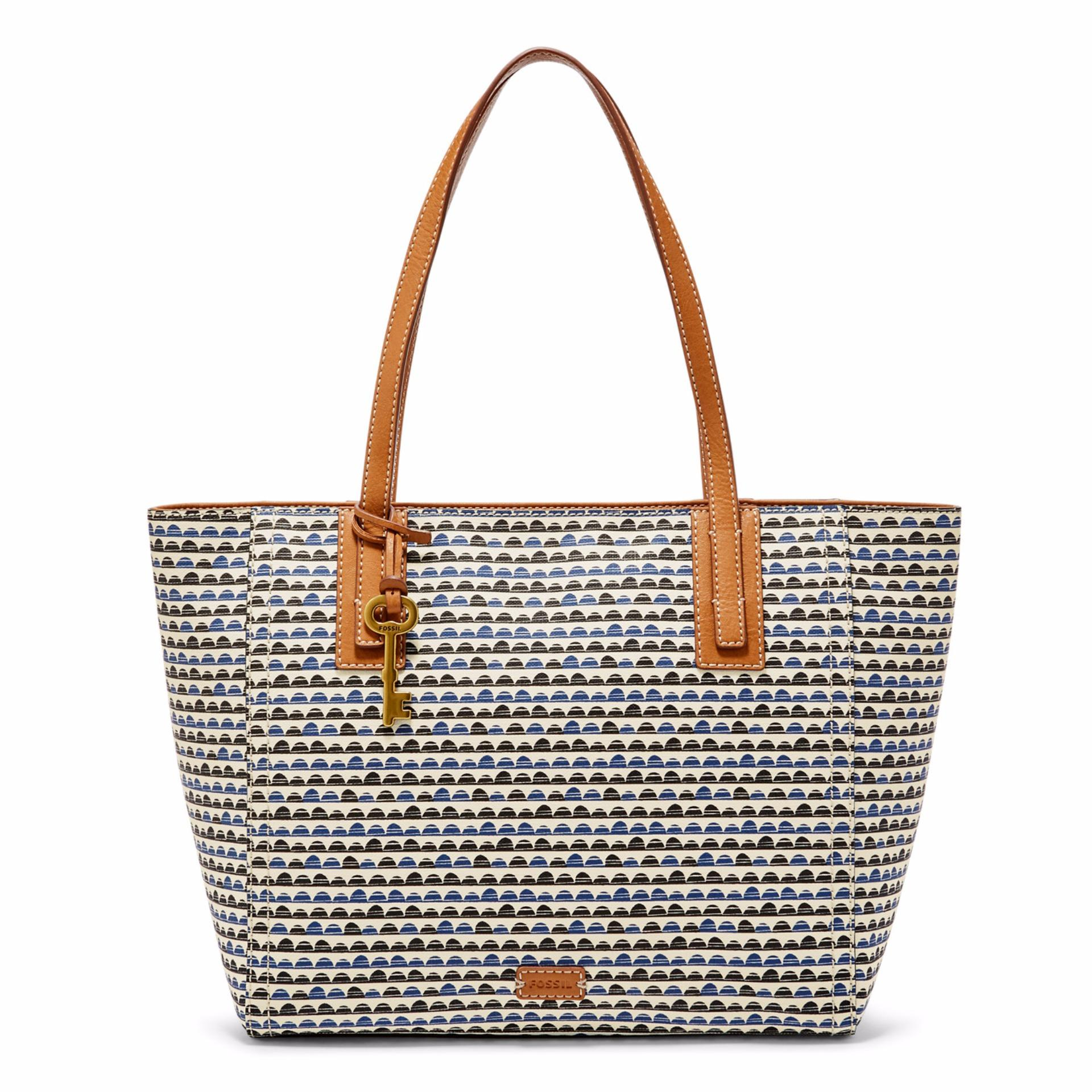 Jual Fossil Emma Tote Blue Print Zb 7137469 Online