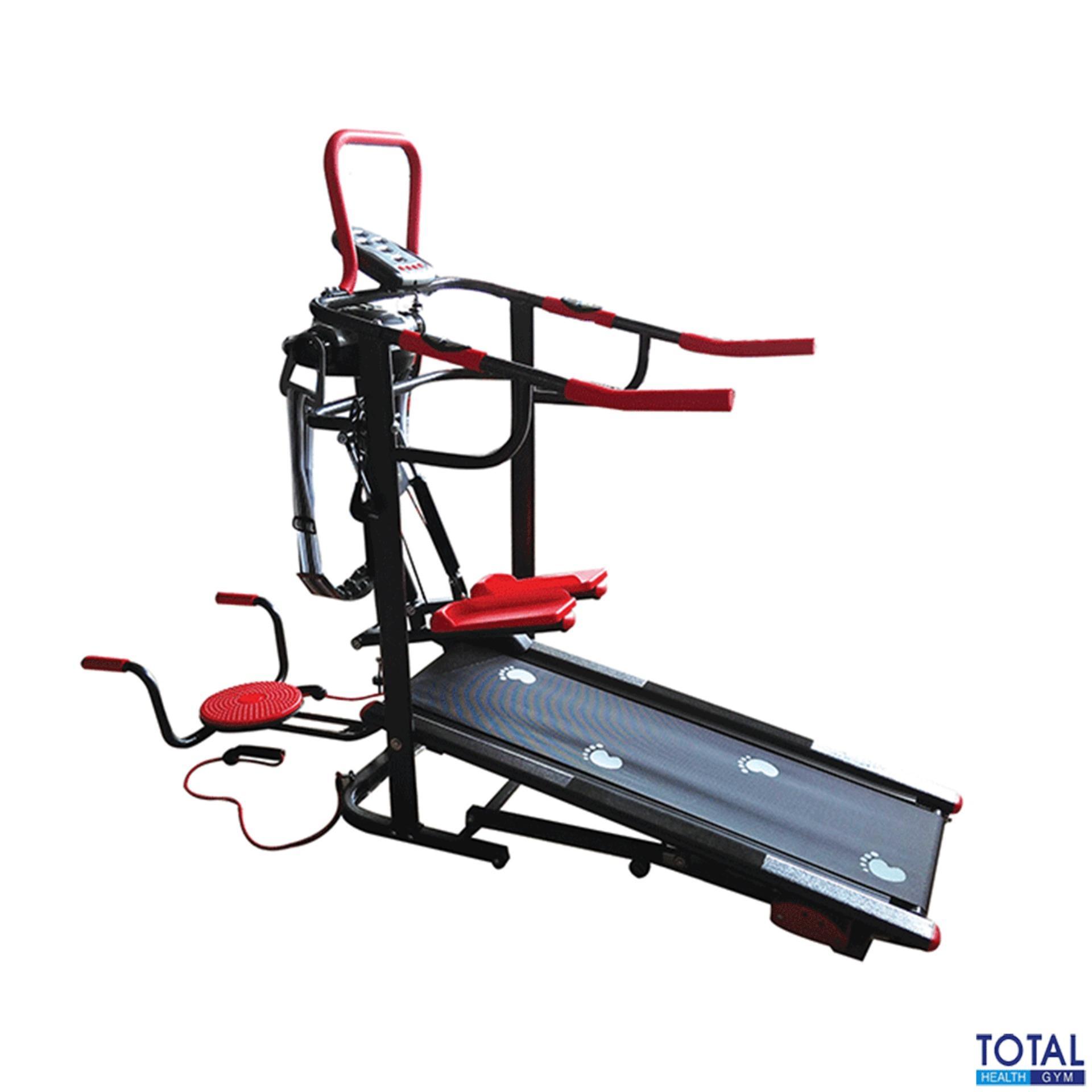 Harga Free Ongkir Jabodetabek Total Fitness Tl 004Ag Black Treadmill Manual Stepper Massager Termurah