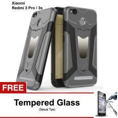 Free Tempered Glass Case Transformer Kickstand Slim Armor Hardcase for Xiaomi Redmi 3 pro / 3s