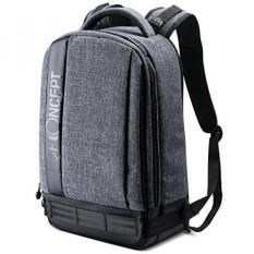 [. Amerika Serikat] K & F Concept Profesional Kamera Ransel Ukuran Besar Tas Fotografi untuk Canon Nikon Sony DSLR, 13.3 Laptop, Tripod (Grey) B01M2VS4A1-Internasional