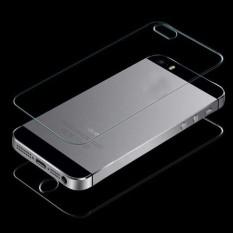Depan & Belakang Kaca Antigores Pelindung Layar Film untuk iPhone 5 5G 5s-Intl