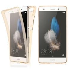 Depan + Casing Belakang Cover untuk Huawei P8 Lite 360 Seluruh Badan Shockproof Bening Sarung Tpu