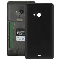 Beli Frosted Permukaan Plastik Penutup Belakang Rumah Penggantian Untuk Microsoft Lumia 535 Hitam Pake Kartu Kredit