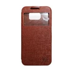 FS Benfer Flip Cover Oppo Joy R1001 - Cokelat