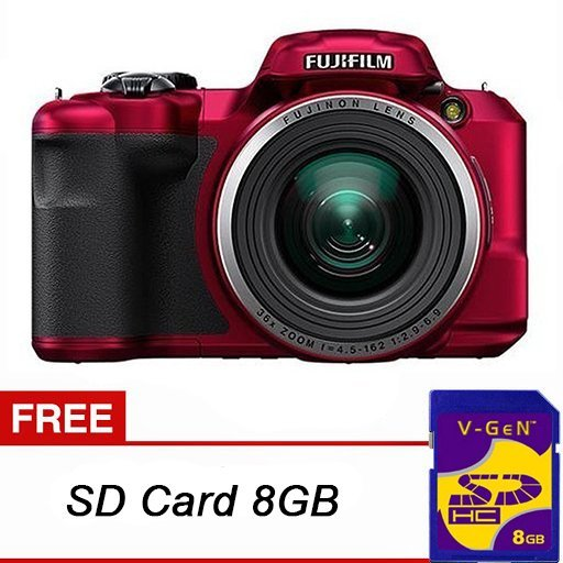 Harga Fujifilm Finepix S8600 16Mp 36X Optical Zoom Red Online