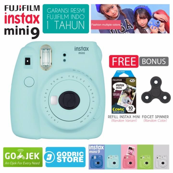 Harga Fujifilm Instax Mini 9 Kamera Polaroid Instant Ice Blue Free 1