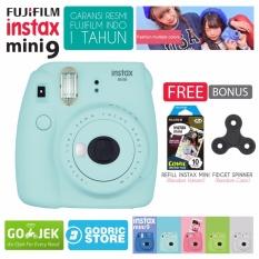 Fujifilm Instax Mini 9 Kamera Polaroid Instant Ice Blue Free 1 Pack Camera Film