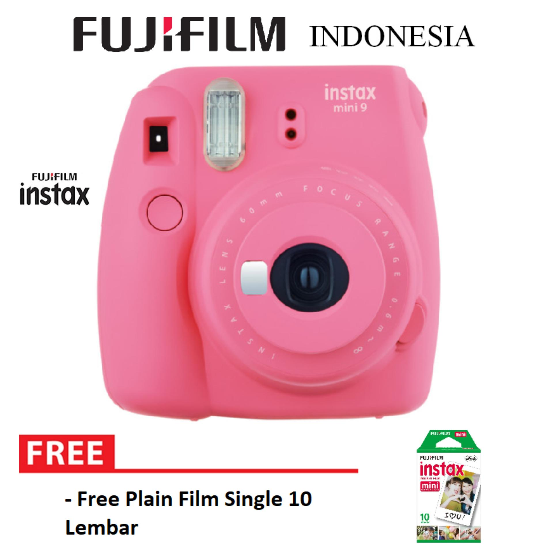Beli Fujifilm Instax Polaroid Camera Mini 9 Paket Standard Flamingo Pink Fujifilm Dengan Harga Terjangkau