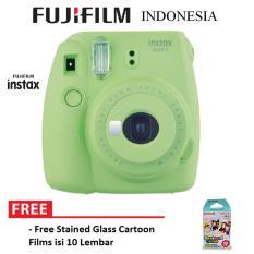 Fujifilm Instax Polaroid Camera Mini 9 Paket Standard - Lime Green