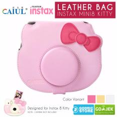 Fujifilm Leather Bag Polaroid Instax Mini 8 Hello Kitty Tas Case Kamera - Pink