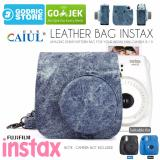 Spesifikasi Fujifilm Leather Bag Polaroid Instax Mini 8 9 Tas Denim Jeans Cowboy Case Terbaik