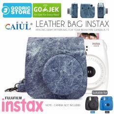 Promo Fujifilm Leather Bag Polaroid Instax Mini 8 9 Tas Denim Jeans Cowboy Case Dki Jakarta