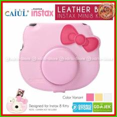 Fujifilm Leather Bag Polaroid Instax Mini 8 Hello Kitty Tas / Case