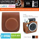 Review Fujifilm Leather Bag Polaroid Instax Mini 90 Neo Classic Tas Case Kamera V2 Coklat Fujifilm