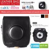 Tips Beli Fujifilm Leather Bag Polaroid Instax Square Sq10 Tas Case Kamera Sq 10 Hitam