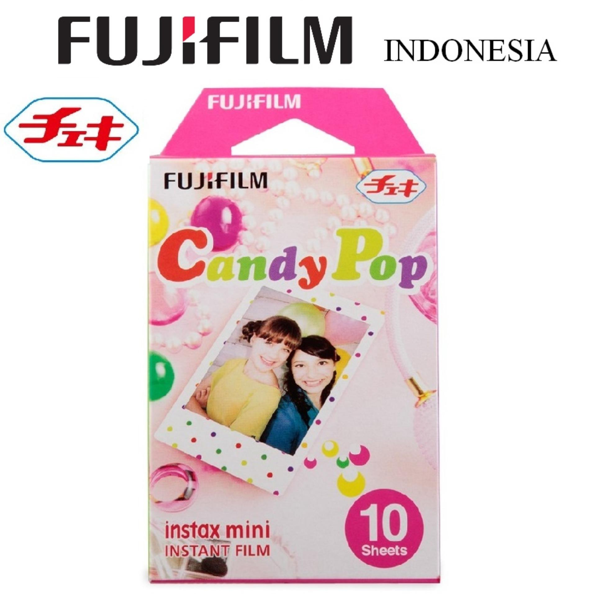 Fujifilm Refill Kamera Instax Mini Film Camera Candy Pop - 10 Lembar