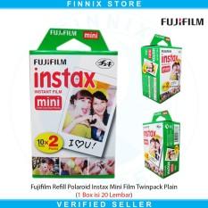 Fujifilm Refill Polaroid Instax Mini Film Twinpack Plain - 1 Box Isi 20 Lembar By Finnix Store.