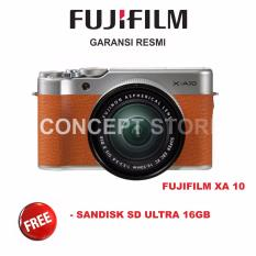 FUJIFILM  X-A10 KIT 16-50MM F3.5-5.6 OIS II MIRRORLESS BROWN / XA10