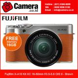 Beli Fujifilm X A10 Kit Xc 16 50Mm F 3 5 5 6 Ois Ii Brown Bonus Sdhc 16Gb Lengkap