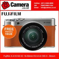 Promo Fujifilm X A10 Kit Xc 16 50Mm F 3 5 5 6 Ois Ii Brown Bonus Sdhc 16Gb Fujifilm