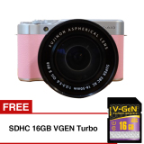 Beli Fujifilm X A10 Mirrorless Camera With Kit Xc16 50Mm Pink Gratis Sd Card 16Gb Yang Bagus