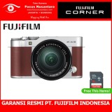 Beli Fujifilm X A3 Kit Xc 16 50Mm F 3 5 5 6 Ois Ii Brown Free Sdhc 16Gb Murah