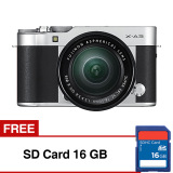 Spesifikasi Fujifilm X A3 Mirrorless Camera With Xc 16 50Mm Lens 24 2Mp Compatible With Fujifilm App Wifi Silver Gratis Sd Card 16Gb Terbaik