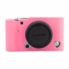 Godric Silicone Fujifilm X-A3 / X-A5 / X-A10 / X-A20 / XA3 / XA5 / XA10 / XA20 Silikon Case / Sarung Silicon Kamera Mirrorless - Pink Muda