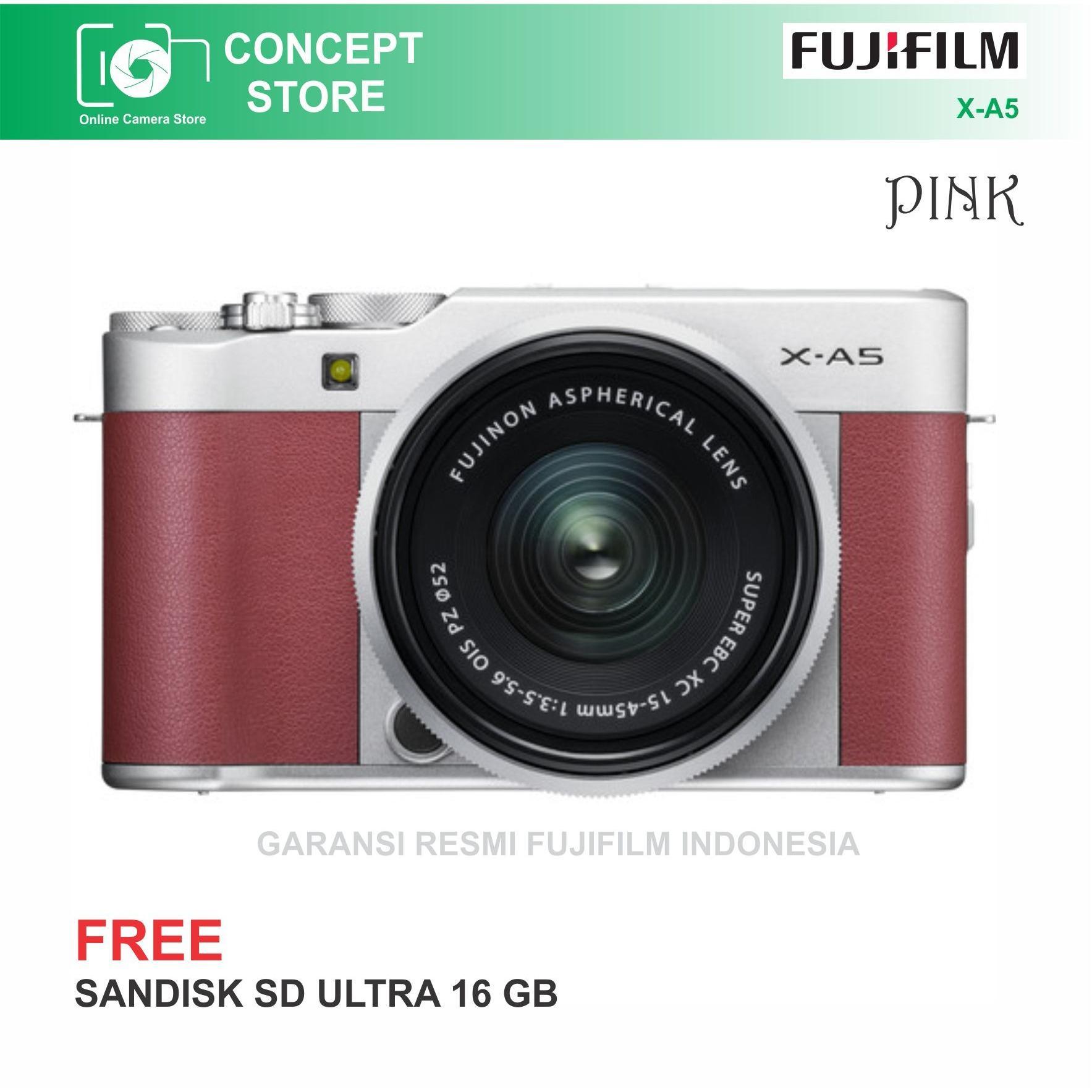 Fujifilm X A5 KIT 15 45mm Pink Resmi