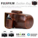 Jual Fujifilm X T10 Xt10 X T20 Xt20 Leather Bag Case Tas Kamera Coklat Tua Fujifilm Branded