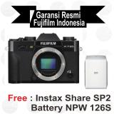 Harga Fujifilm X T20 Body Only Black Mirrorless Free Instax Sp2 Batt Npw 126 S Paper Twin Pack Sirui Sling Bag Branded