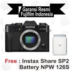 Jual Fujifilm X T20 Body Only Black Mirrorless Free Instax Sp2 Batt Npw 126 S Paper Twin Pack Sirui Sling Bag Import