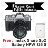 Diskon Fujifilm X T20 Kit 16 50 Mm Silver Mirrorless Free Instax Share Sp2 Batt Npw 126Spaper Twinpack Sirui Sling Bag