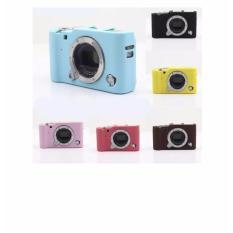 Fujifilm Xa3 X-A3 Silicone Case Casing Silikon Case Sarung / Pink Tua