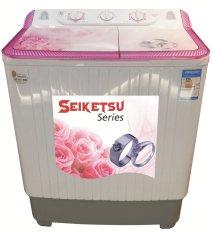 Fujitec Mesin Cuci 2 Tabung 8Kg WM-981MS - Putih-Pink