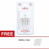 Review Fujitsu Quick Charger Aa 4 Battery 1900 Mah Free Battery Case For Eneloop Camelion Fujitsu