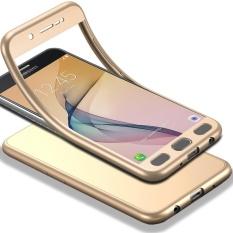 Tubuh Penuh Case untuk Samsung Galaxy J5 Prime Lembut TPU Matte Finish Slim Cover 2 In 1 Cakupan Penuh Perlindungan dengan Pelindung Layar Anti Gores (Emas) -Intl
