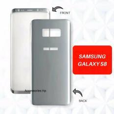 Full Body Cover 360 Front Back 3D Premium Tempered Glass Warna Screen Protector For Samsung Galaxy S8 Silver Asli