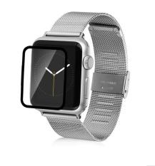 Full Cover Premium Tempered Glass Screen Protector untuk Apple IWatch 38mm 42mm, Full Coverage Smart Watch Film, 3 Pcs (Ukuran: 38mm)-Intl
