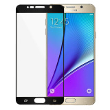 Harga Hemat Full Cover Tempered Glass Pelindung Layar Guard Untuk Samsung Galaxy Note 5 Hitam