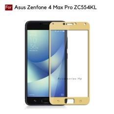 Full Cover Tempered Glass Warna Screen Protector for Asus Zenfone 4 Max Pro ZC554KL - Gold